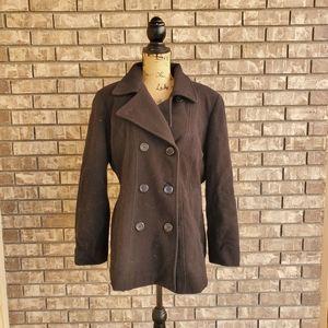 Anne Klein wool pea coat dress coat women's